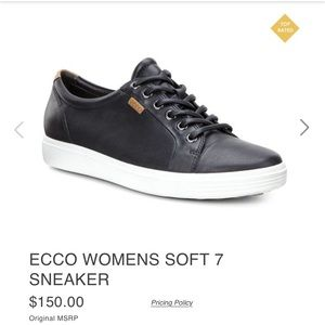 Ecco Shoes - Ecco Soft Sneaker size 38 women's Black Leather